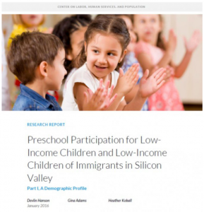 Preschool Participation for Low-Income Children and Low-Income Children of Immigrants in Silicon Valley: Part I, A Demographic Profile