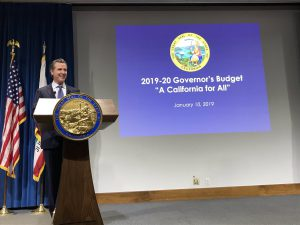 Govrnor Newsom presents the January Budget Proposal